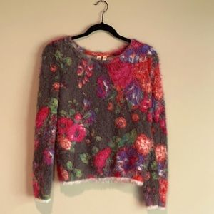 Anthropologie Meadow Rue Posy Floral Sweater